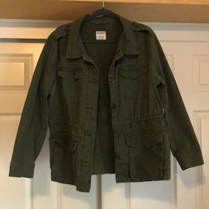 Old Navy Military Jacket- Green- XL